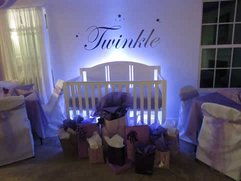 ... Uplighting For Baby Shower | Rent Online For $19/each + Free Shipping  Both Ways