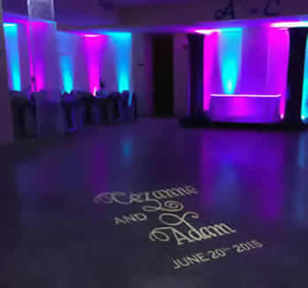 Monogram lighting with free shipping nationwide for weddings and easy diy dance floor monogram free shipping nationwide with rent my wedding easy diy setup solutioingenieria Images