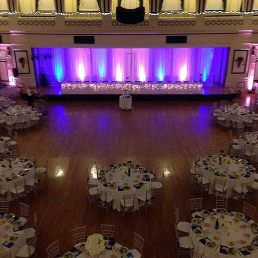 blue and pink uplighting for head table backdrop rent online for 19each beautiful color table uplighting