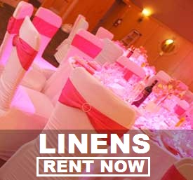 Linen Rentals!  Free shipping  nationwide with www.RentMyWedding.com