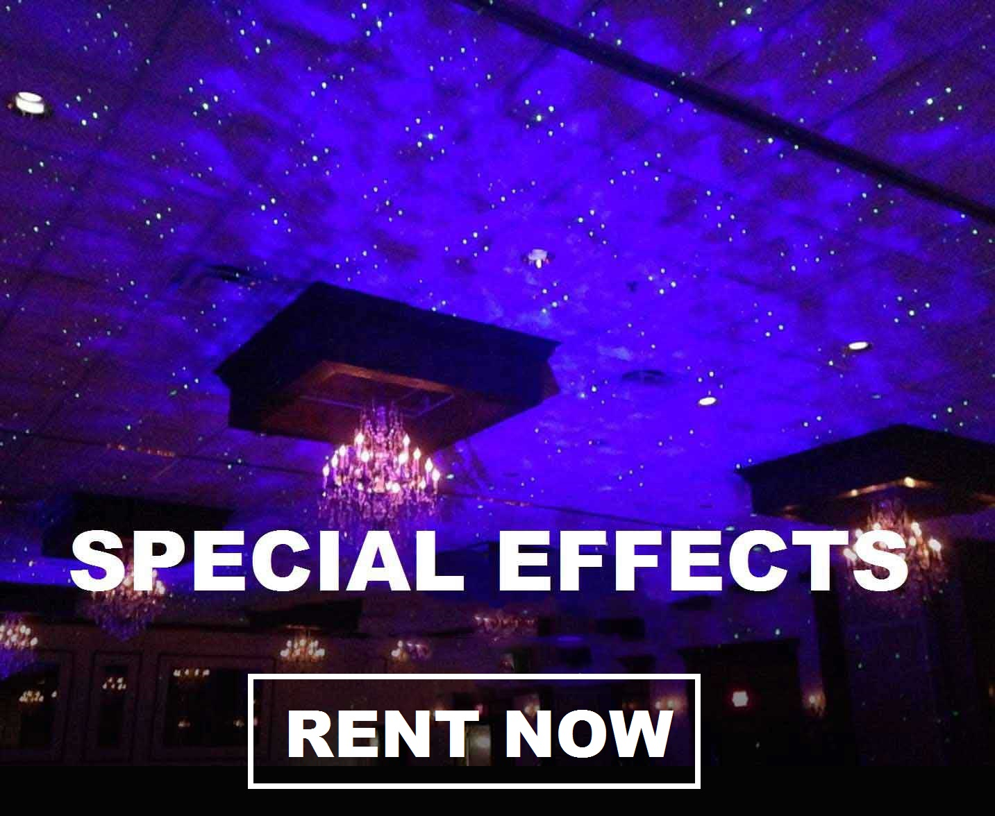 Special Effects Lighting! Free shipping  nationwide with www.RentMyWedding.com