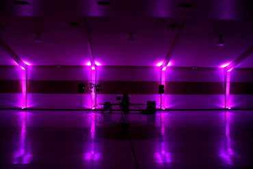 Gym transformation with uplighting