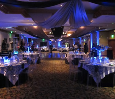 Rent uplighting for elegant ambiance