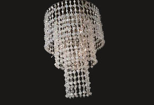 Crystal Chandelier – 3-Tier With Lights