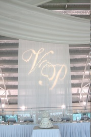 Gobo rental example on curtains