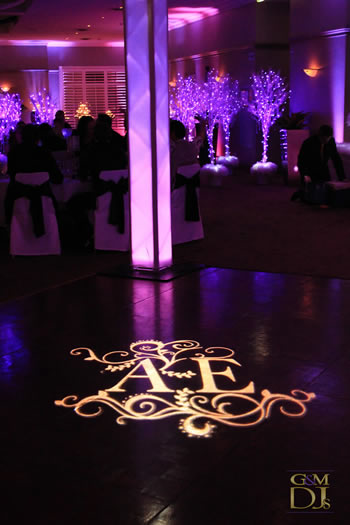 Wedding trends rent uplighting gobos accessories more oject an image onto any surface the word gobo stands for goes before optics a special gobo projector is used to project the gobo image solutioingenieria Choice Image