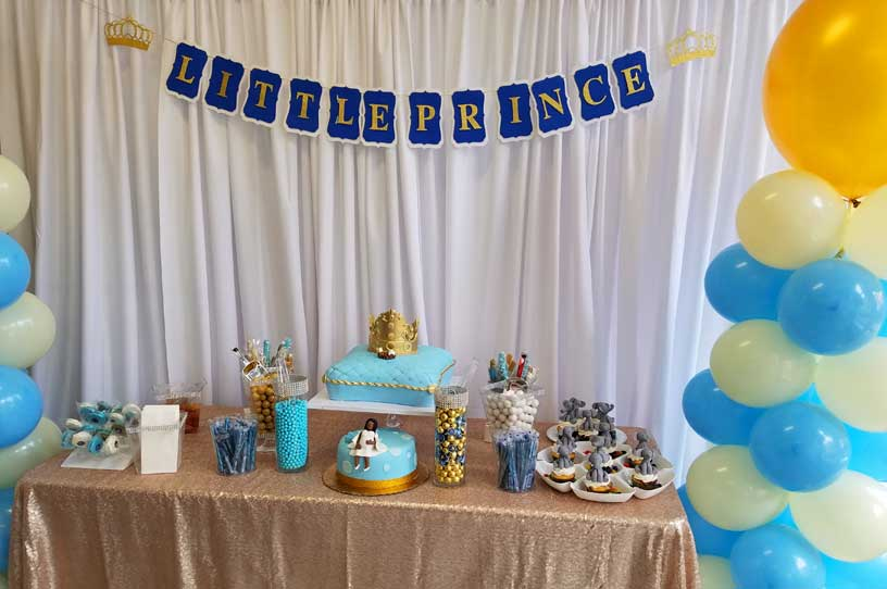 Backdrop For Baby Shower with balloons