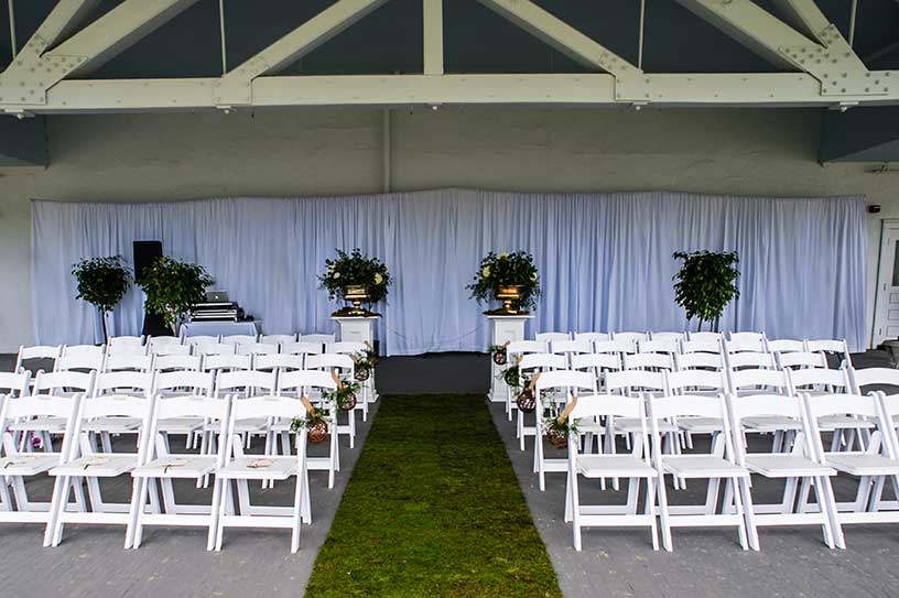 Long backdrop for wedding