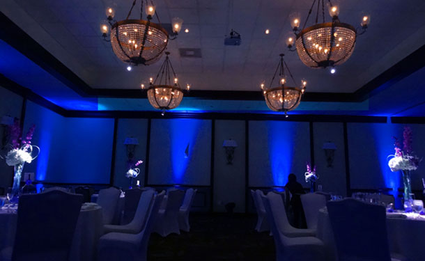 pinspotting, gobo, uplighting, cake