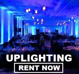 Uplighting Rentals! Just $19 each plus free shipping both ways nationwide with www.RentMyWedding.com