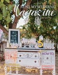 Summer 2018 Magazine Cover Rent My Wedding