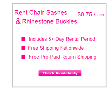Rent Chair Sashes