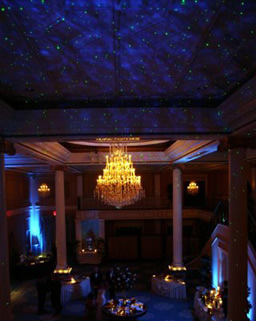 Starry night lighting for corporate event
