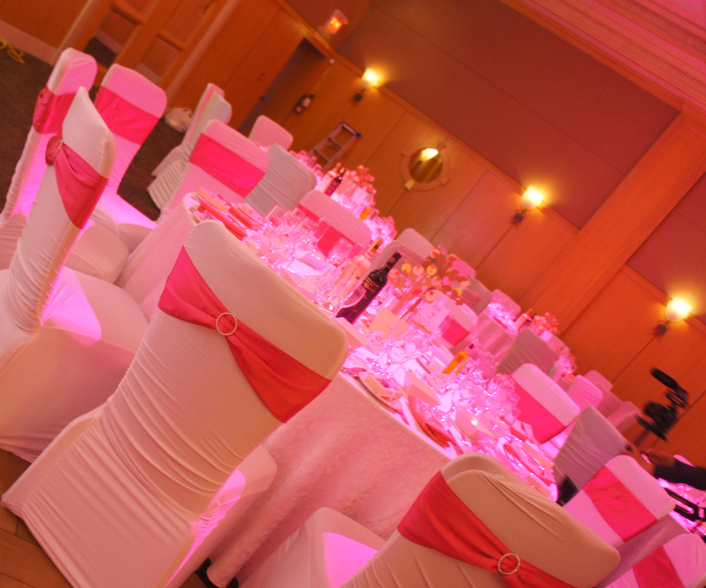 SPANDEX CHAIR COVERS WITH SASHES AND RHINESTONE BUCKLES || Rent Online At  Rentmywedding.com